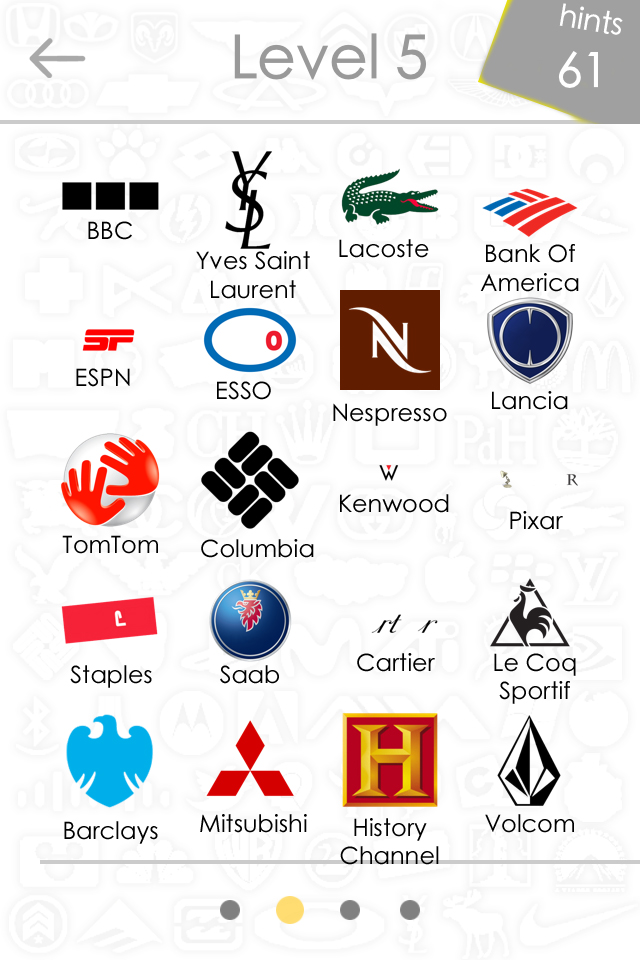 Logo Quiz Answers Level 1-15 for iPhone, iPad, and Android