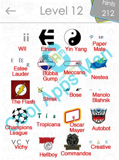 logo quiz answers level 12