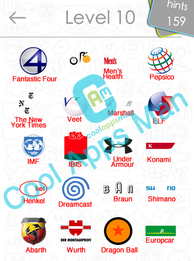 Logo Quiz Answers Updated Level 10-15 - Cool Apps Man